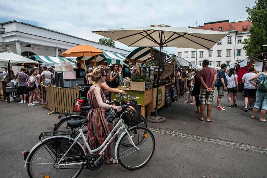 Der berühmte Food Market in der Innenstadt | © Ruperta M. Steinwender_Laibach_08